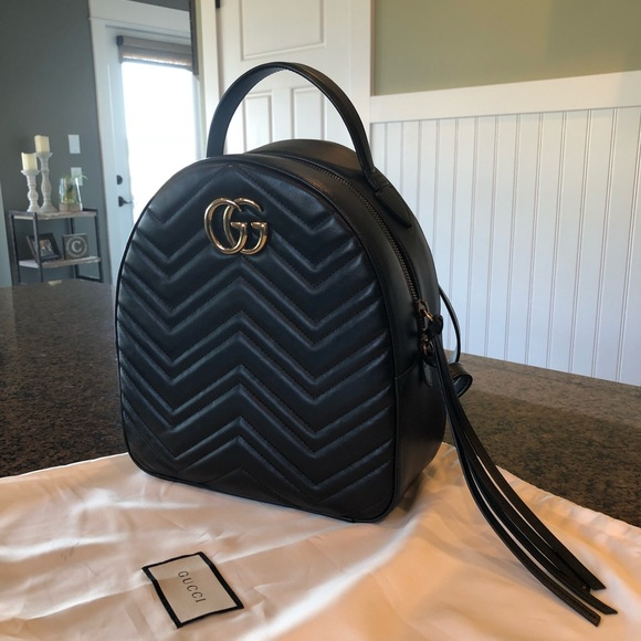 670b81a368d472 Gucci Bags | Marmont Quilted Leather Backpack | Poshmark